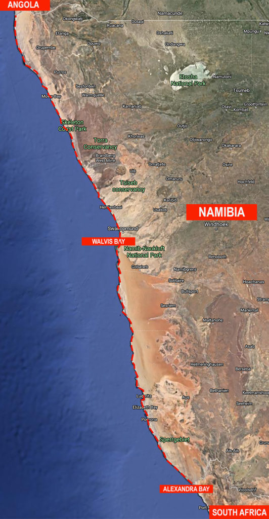 Walk4Africa Namibia Route Map