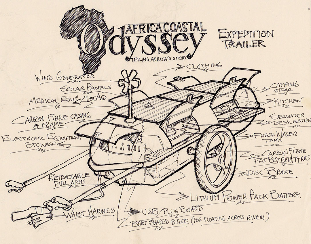 Artists impression of the Africa Coastal Odyssey expedition trailer