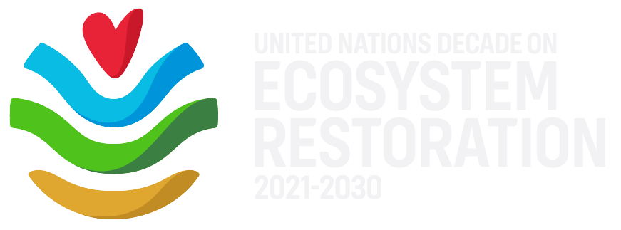UN Ecosystem Restoration logo with white type