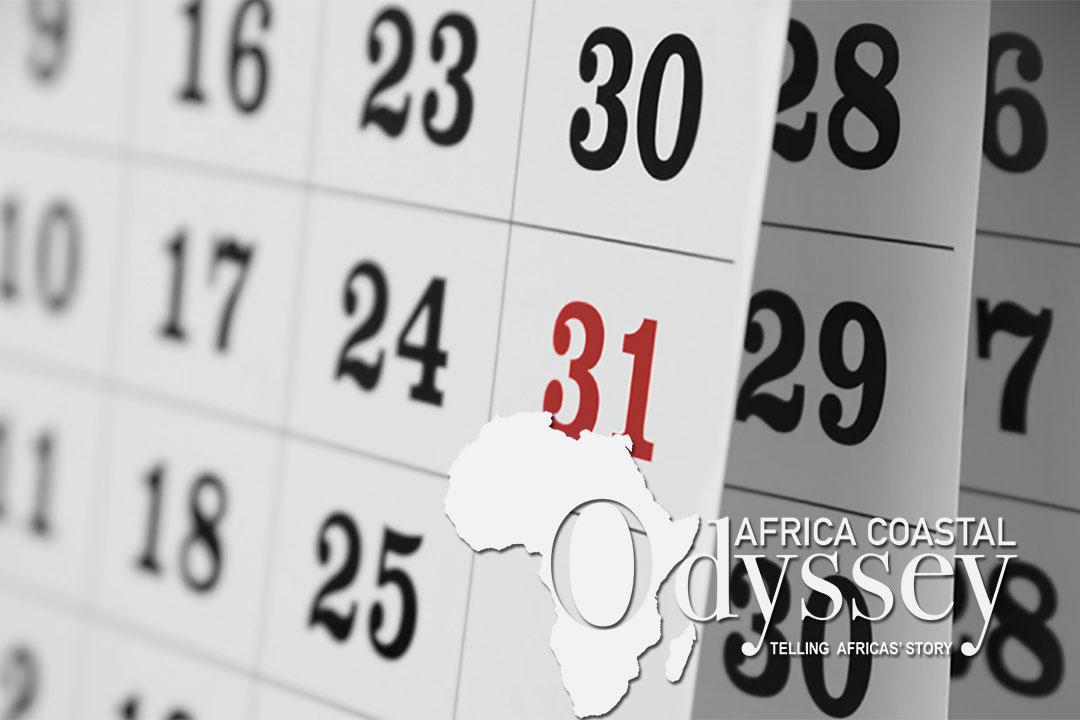 Calendar with Africa Coastal Odyssey logo